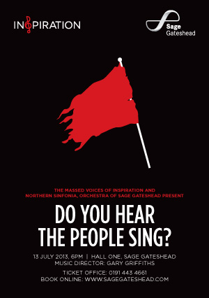 Inspiration and Northern Sinfonia present  'Do You Hear The People Sing?' at The Sage Gateshead