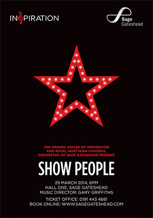 Inspiration and Royal Northern Sinfonia present 'Show People' at Sage Gateshead