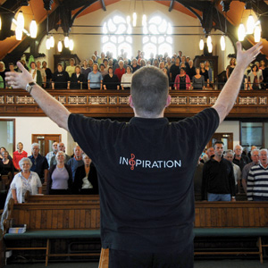 Inspiration Choir in rehearsal